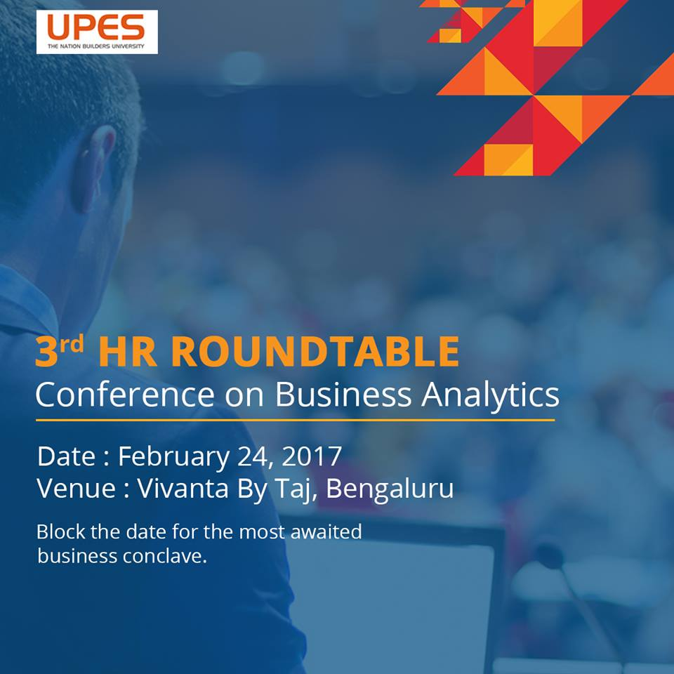 UPES HR Round Table Business Analytics